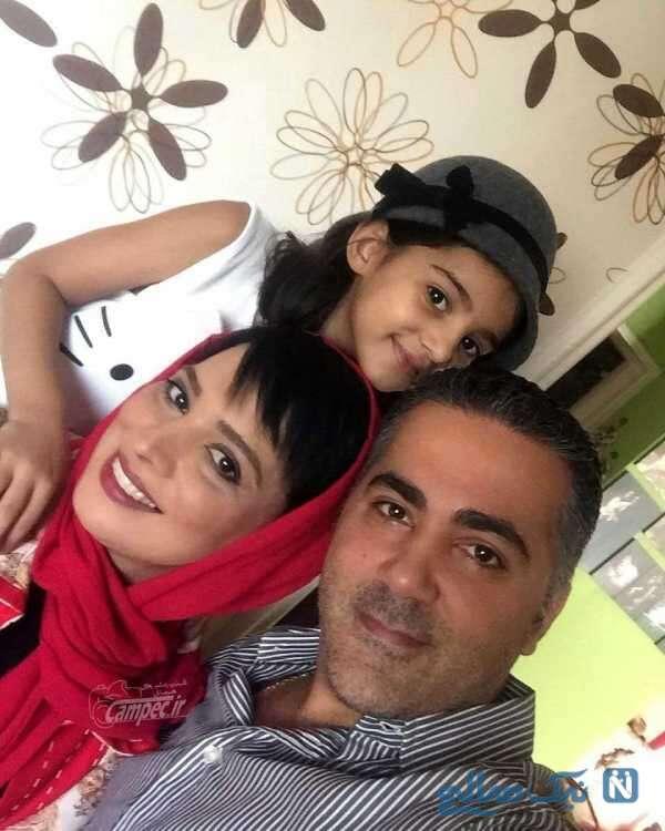 عکسهای روشنک عجمیان کنار همسر و دخترش