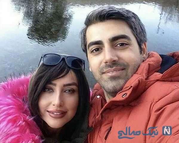 سلفی محمدرضا رهبری با همسرش