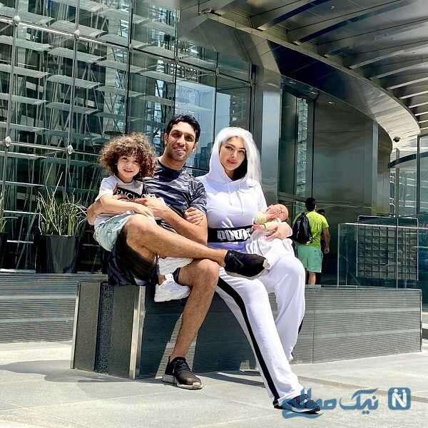 سپهر حیدری و خانواده اش در برج خلیفه دبی