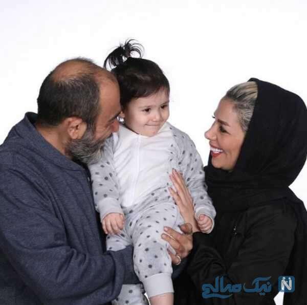 چهره جدید مهران غفوریان در کنار همسر و دخترش