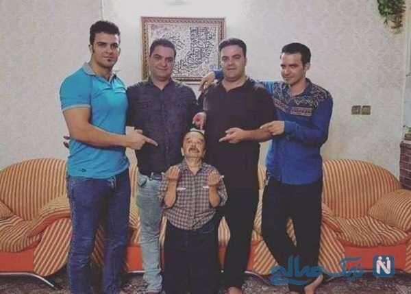 بازیگر معروف و پسرانش