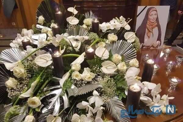 مراسم چهلم خانم مجری
