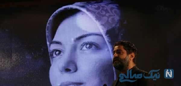 اشک همسر آزاده نامداری در چهلم خانم مجری