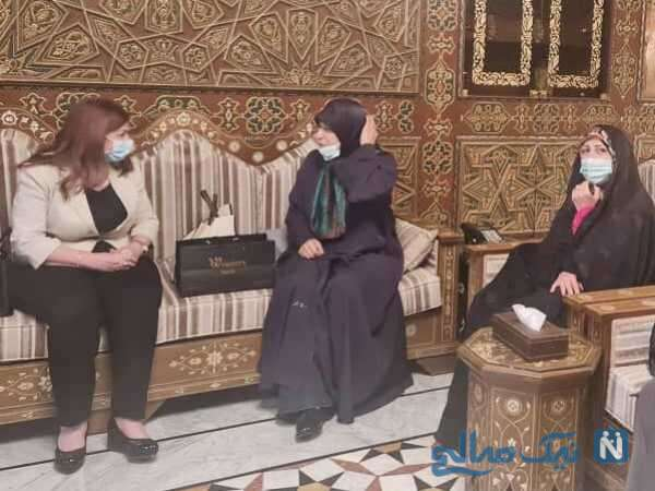 همسر ظریف در دمشق