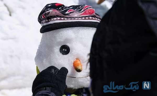 تصاویر جالب و دیدنی از جشنواره آدم برفی توچال