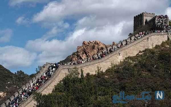 بازدید از دیوار چین و حضور میلیونی مردم با کنترل بیماری کرونا