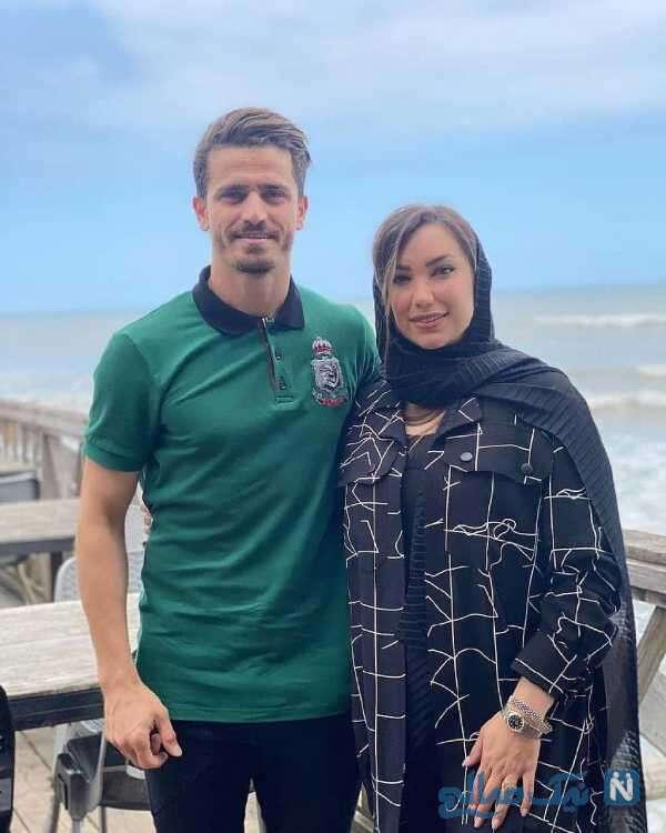 وریا غفوری در کنار همسرش