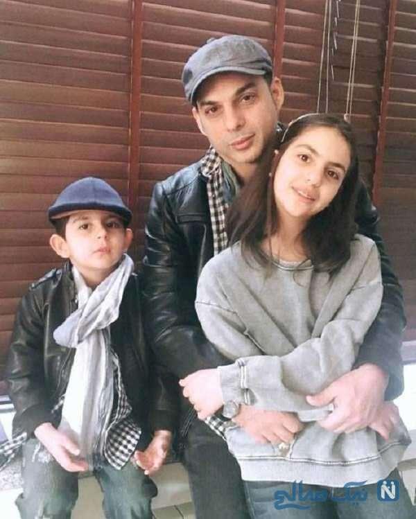 بازیگر معروف و فرزندانش