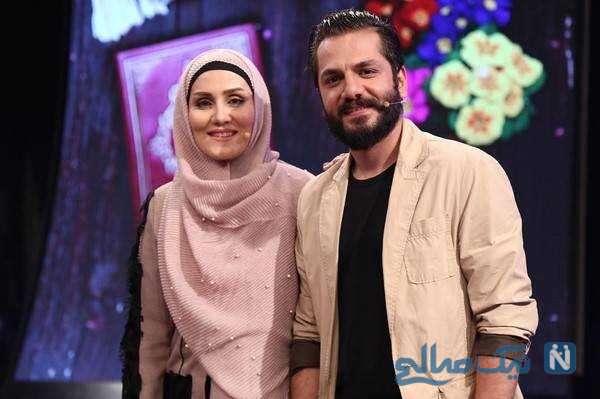 عباس غزالی بازیگر ایرانی و همسرش