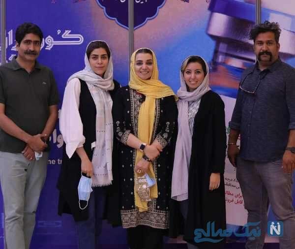 تزریق واکسن ایرانی توسط خانم بازیگر