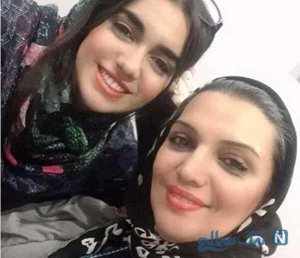 بازیگر الهام پاوه نژاد و دخترش