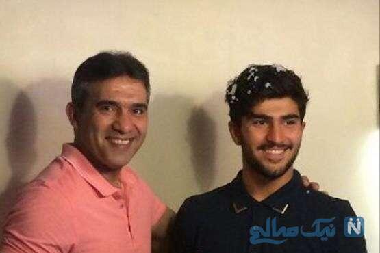 تصویری از احمدرضا عابدزاده و پسرش امیر
