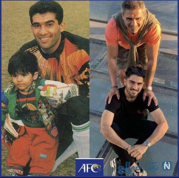 احمدرضا عایدزاده و پسرش درگذر زمان