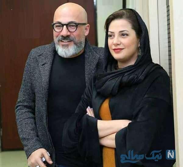 امیر آقایی بازیگر ایرانی و طناز طباطبایی