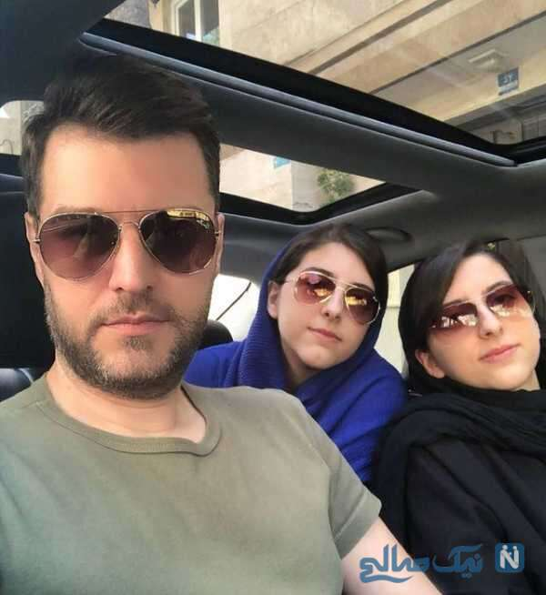 سلفی باربد بابایی با دخترانش