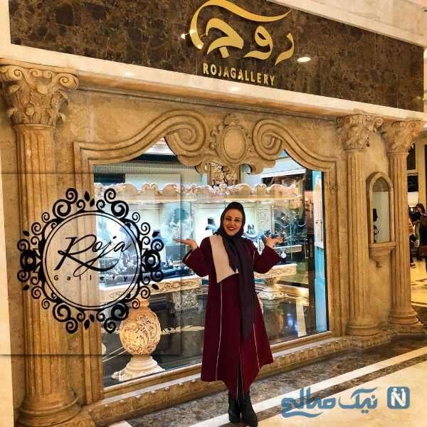 بهنوش بختیاری طلا فروشی با دیزاین لاکچری اش