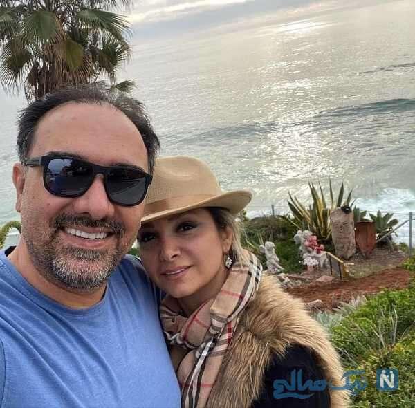 برزو ارجمند بازیگر معروف و همسرش