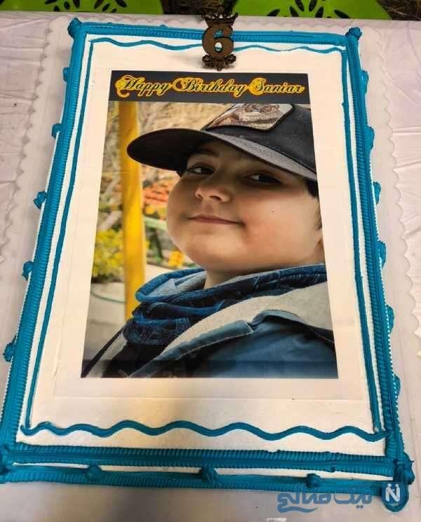 کیک تولد سانیار پسر سپیده خداوردی