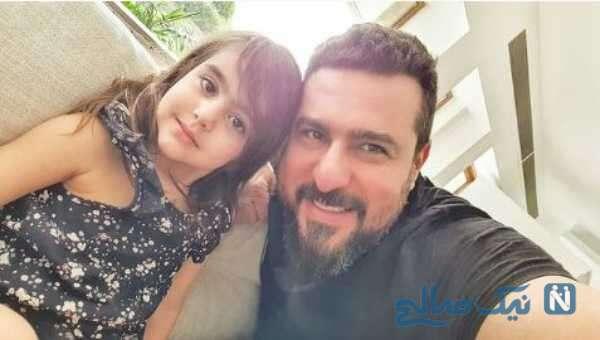 بازیگر سینما محسن کیایی و دخترش