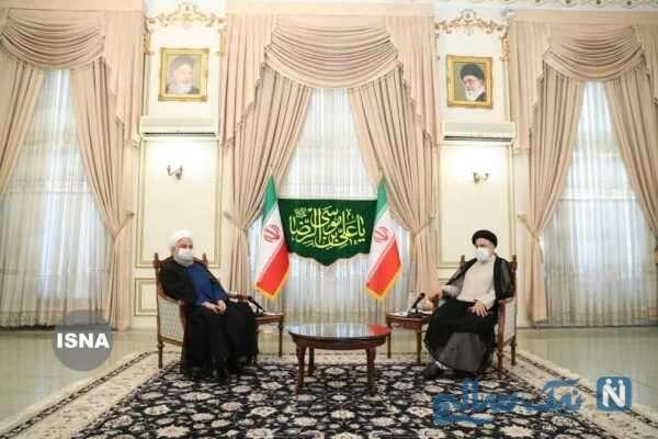 حضور روحانی در دفتر رئیسی