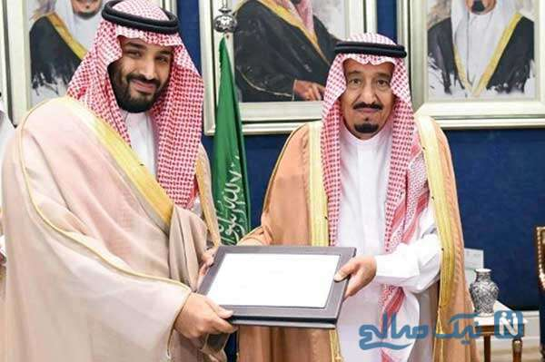 پادشاه عربستان و پسرش