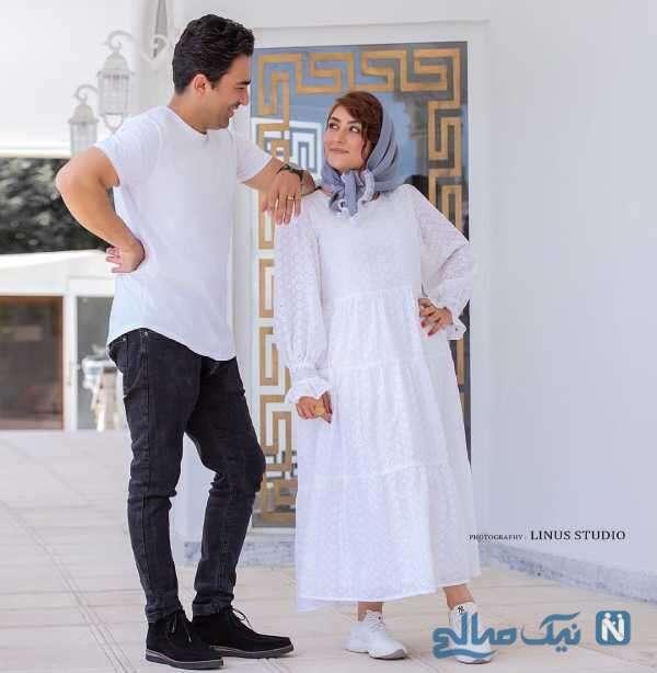 عکس عاشقانه الهام طهموری و همسرش