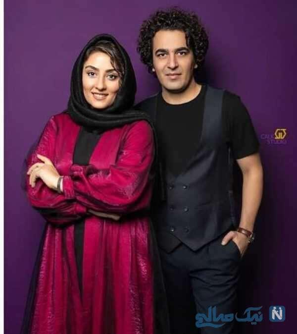 عاشقانه های الهام طهموری با همسرش