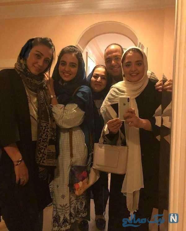 سلفی نرگس محمدی با خانواده اش