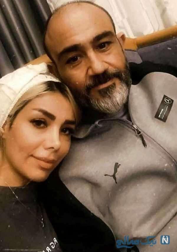 مهران غفوریان هنرپیشه معروف و همسرش