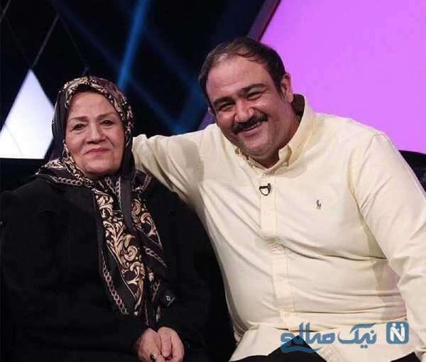 تصویری جالب از مهران غفوریان در کنار مادرش