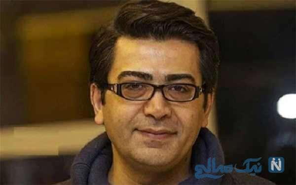 ابراهیم حاتمی کیا و فرزاد حسنی بازیگر در مراسم تشییع خبرنگاران ایسنا و ایرنا