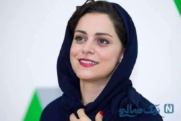تصویری از گریم غزل شاکری در سریال جیران برای نقش خواهر ناصر الدین شاه