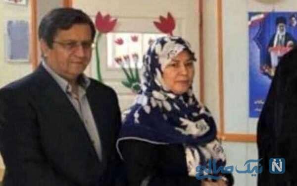 همتی نامزد ریاست جمهوری و همسرش