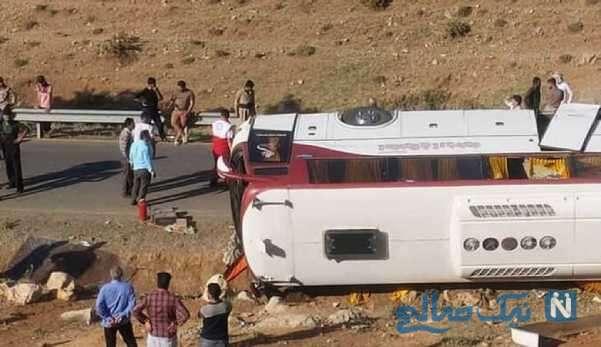 واژگونی اتوبوس نقده