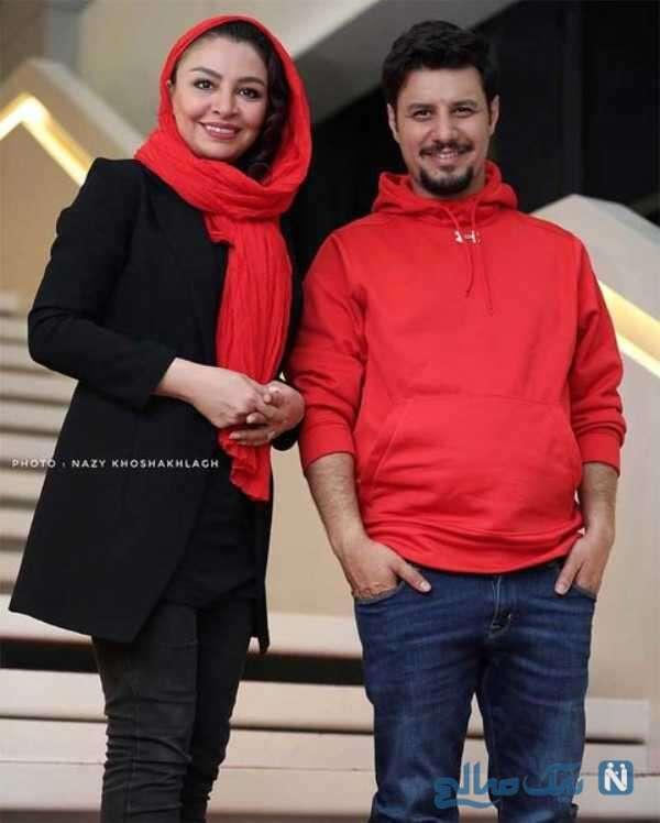جواد عزتی با همسرش مه لقا باقری