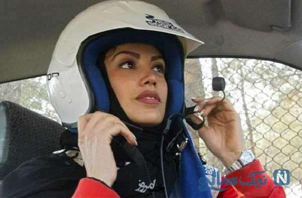 حرفهای لاله قهرمان اتومبیلرانی : میگفتند شبیه به آنجلینا جولی هستی