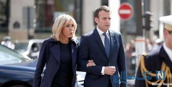 امانوئل ماکرون و همسرش