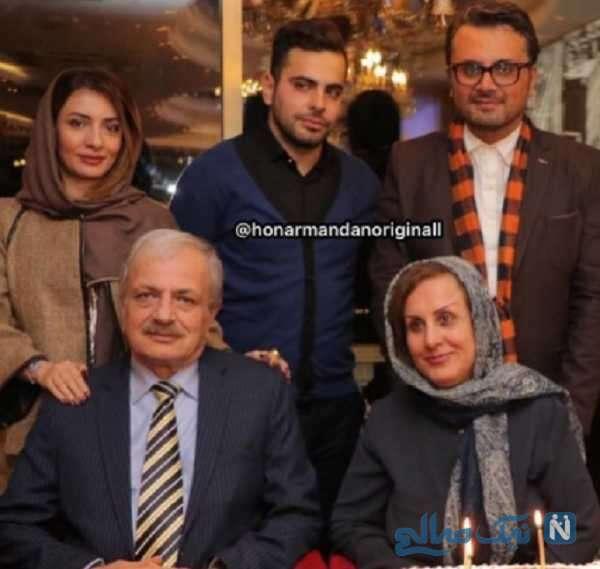 شوهر متین ستوده در کنار خانواده اش