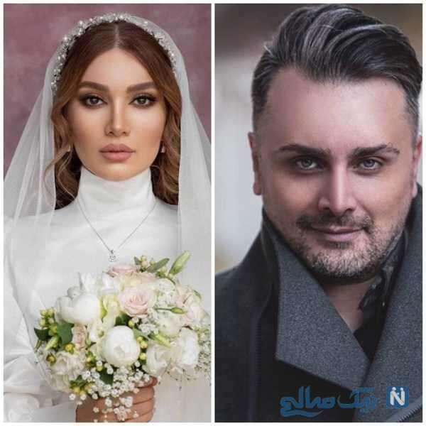 تصویری از متین ستوده در کنار همسرش