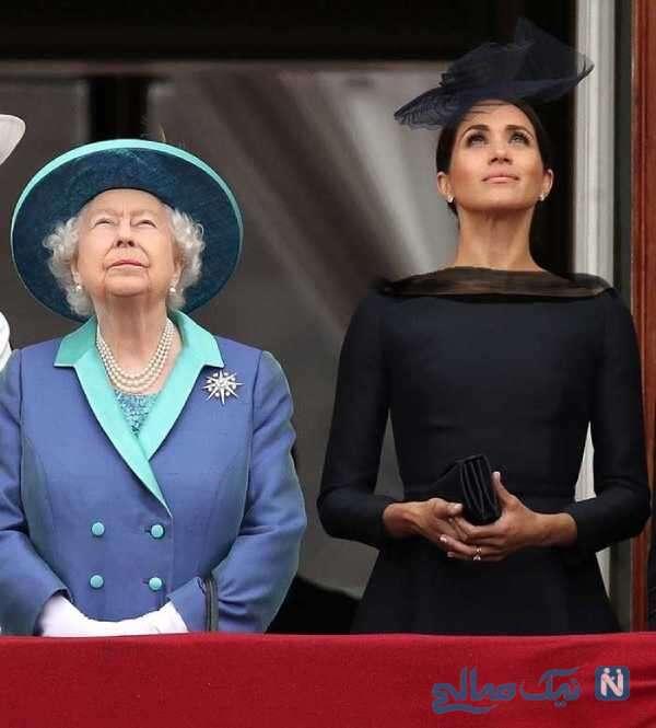 ملکه انگلیس و عروسش
