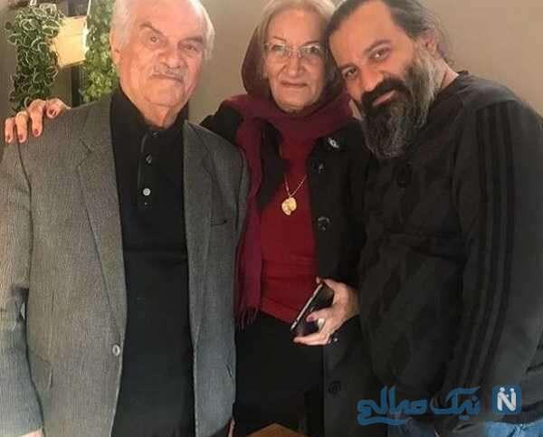 تصویری از پدر و مادر مهراب قاسم خانی