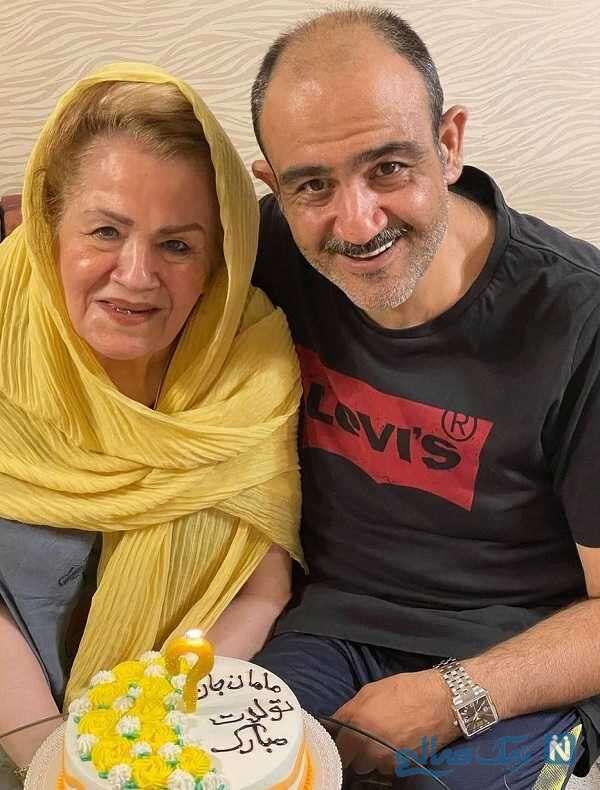 جشن تولد مادر مهران غفوریان