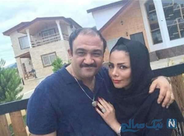 مهران غفوریان بازیگر ایرانی و مادرش