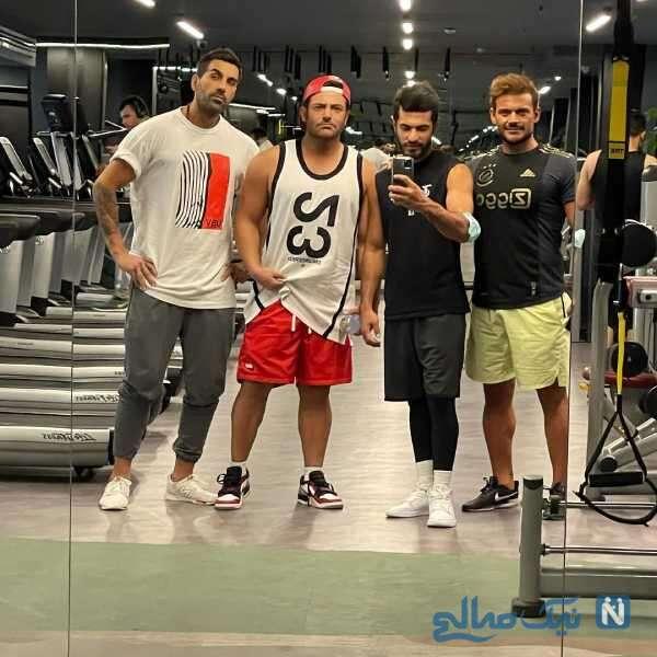 استایل ورزشی محمدرضا گلزار با دوستانش