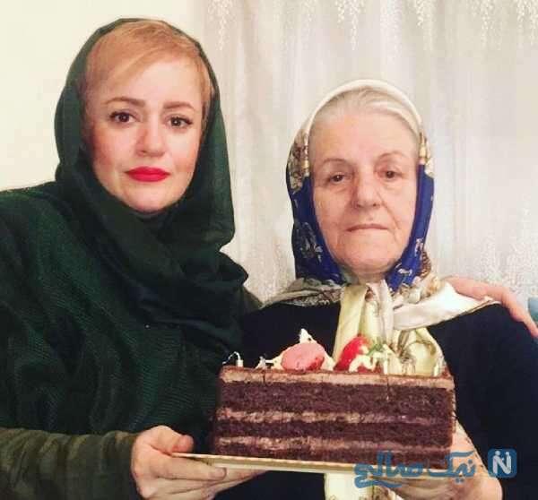 عکس جدید نعیمه نظام دوست و مادرش