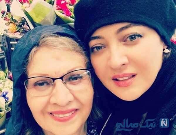 نیکی کریمی بازیگر ایرانی و مادرش