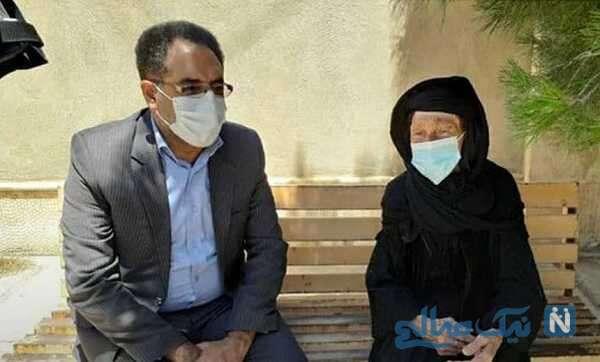 پیرزن کرمانشاهی در انتخابات