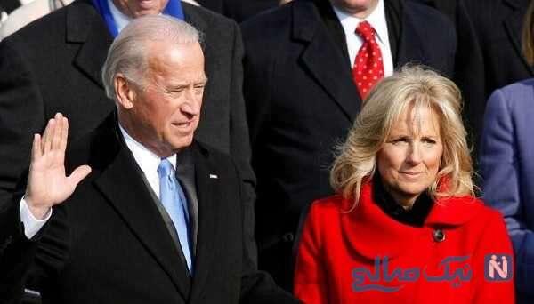 بایدن و همسرش