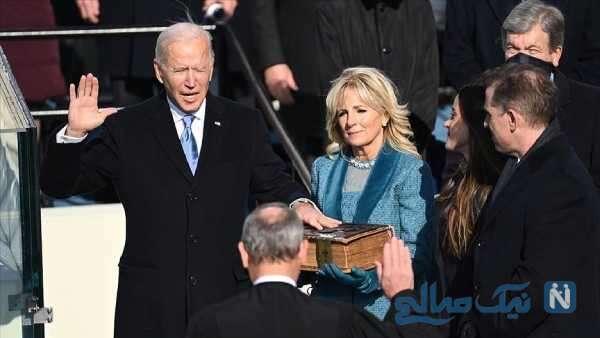 عکس بایدن رئیس جمهور آمریکا و همسرش