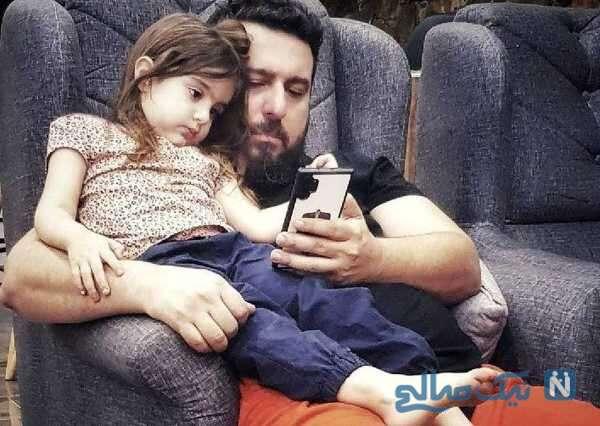 بازیگر محسن کیایی و دخترش